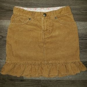 Girls 6x Lands End Corduroy Skirt Ruffle